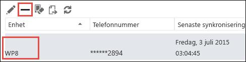 Ta bort telefonen från Outlook Web App