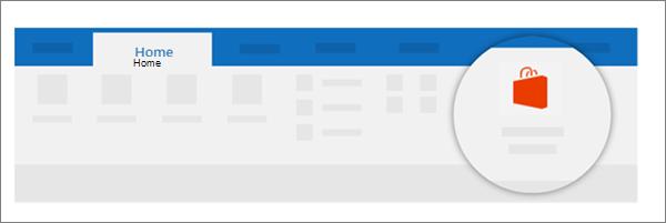 På menyfliken Start väljer du lagra, enligt följande exempel. Välj Admin hanteras i den vänstra nav.