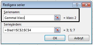Skriv ett förklaringsnamn i textrutan Serienamn och klicka på OK.