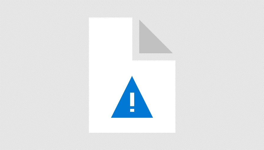 Illustration av en triangel med utropstecken varning tecknet ovanpå ett pappersark med övre högra hörnet vikt mot mitten. Den representerar en varning om att datorfiler har skadats.