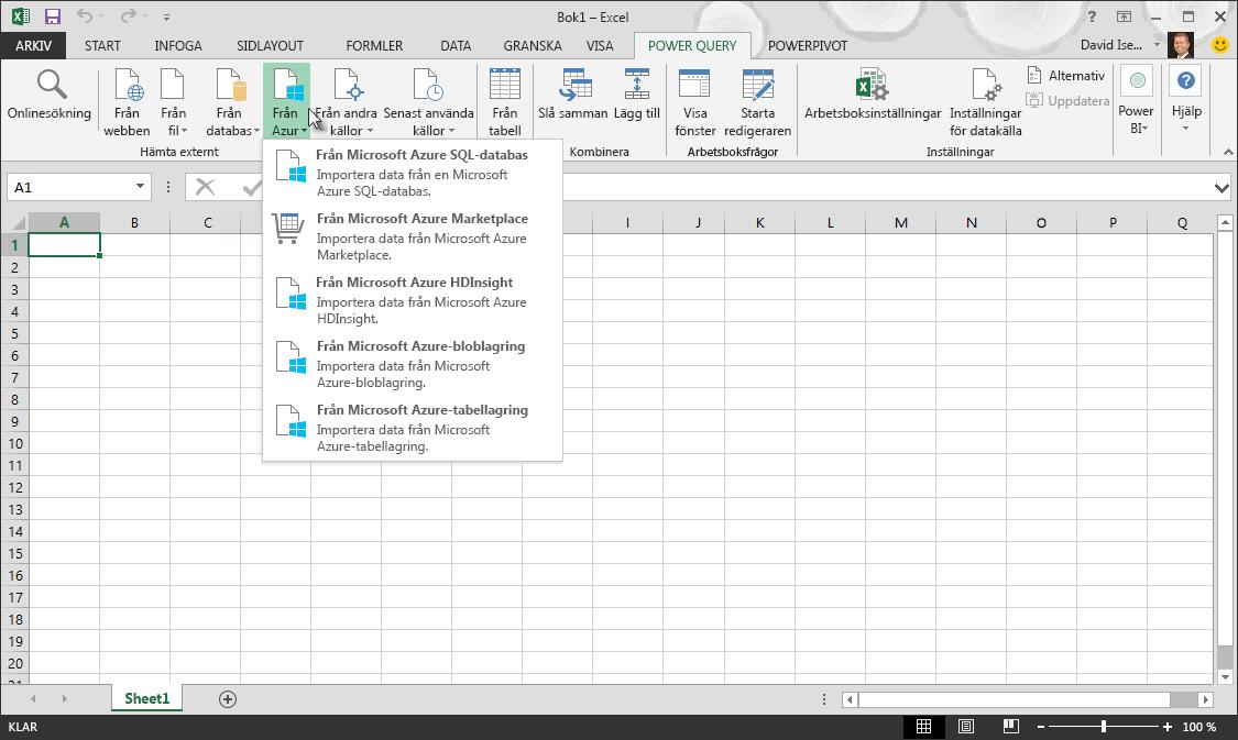 Hämta externa data från Azure