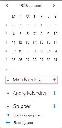 Lägg till en ny kalender