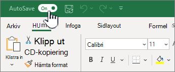 Automatiskt spara-knapp i Excel