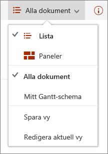 Menyn Vyer i Microsoft Edge