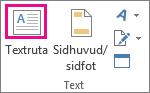 Knappen Textruta i gruppen Text