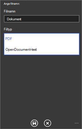 Spara som PDF