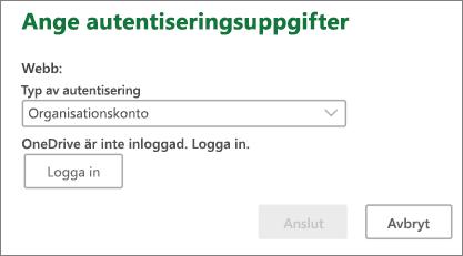 SharePoint-autentiseringsuppgifter-fråga på Mac
