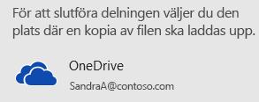 Om du inte har sparat din presentation i OneDrive eller SharePoint, uppmanas du att göra det i PowerPoint.