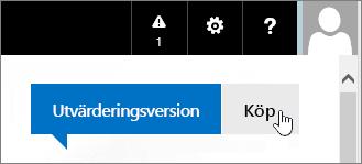 Knapp för att köpa utvärderingsversionen av Office 365