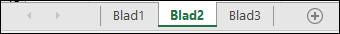Kalkylbladsflikar längst ned i Excel-fönstret