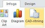 Knappen Infoga CAD-ritning