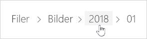 Markera en OneDrive-mapp