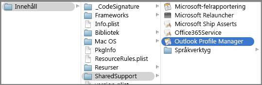Visa paketinnehåll för Outlook