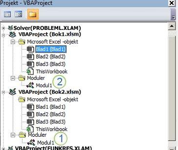 Projektutforskaren för VBA-projekt