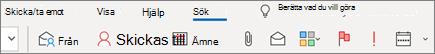 Använda sökning i Outlook