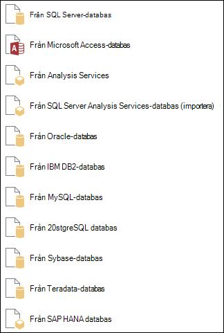 Hämta data från en databas