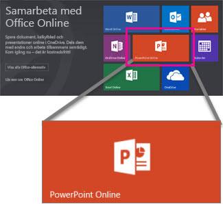 Välj PowerPoint Online