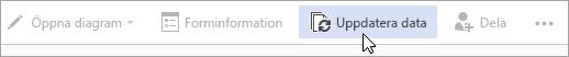 Alternativet Uppdatera data i den offentliga förhandsversionen av Visio Online
