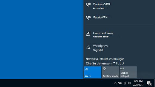 Ansluten till ett VPN