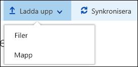 Ladda upp filer eller mappar till ett dokumentbibliotek i Office 365