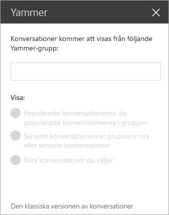 Yammer webbdel sökfält