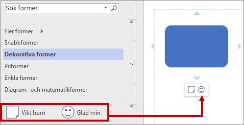 Formateringsverktygsfältet med en ny stencil genom att ändra ordning