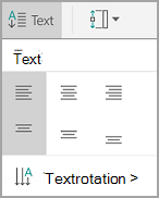 Android tabell textjustering