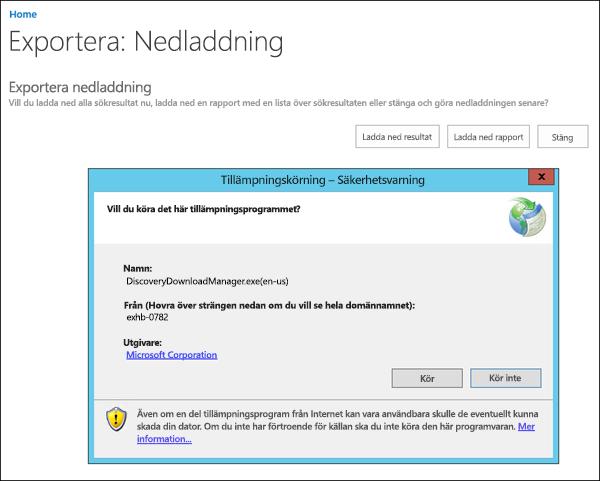 Säkerhetsvarning för e-informationsavslöjande Download Manager