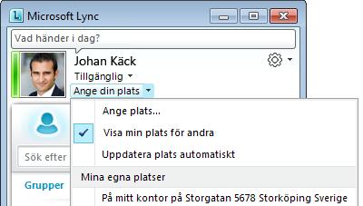 Lync Visa plats