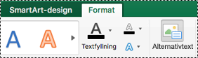 Knappen Alternativ Text för SmartArt-grafik i Excel för Mac