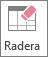 Knappen Radera