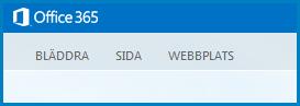 Skärmbild av de standardflikar som används för att anpassa en offenlig webbplats i SharePoint Online