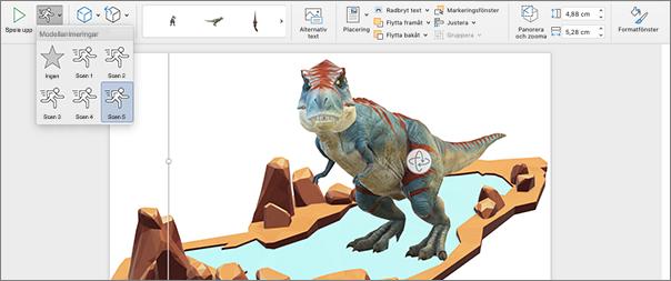 3D-modell med animeringsalternativ