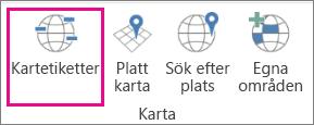 Alternativet Kartetiketter för 3D-kartor