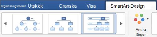 Klicka på en typ av SmartArt-design