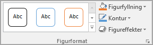 Gruppen Figurformat i Word