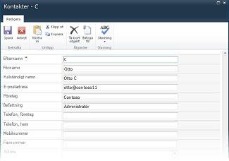 InfoPath-listformulär för SharePoint