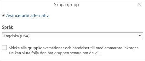 Välj att skicka grupp-e-post till användares inkorg