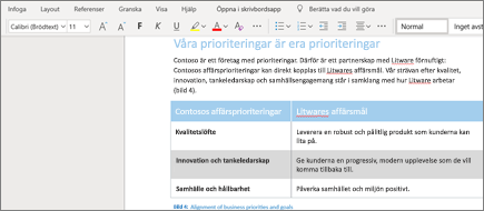 Formatera text i Word Online