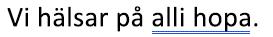 Ett grammatiskt fel markeras med en blå dubbel understrykning
