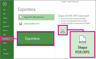 Bild av knappen Skapa PDF/XPS