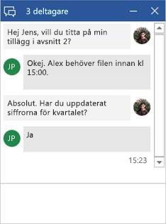 Chattfönstret i Word-dokument