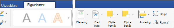 Om du vill justera ett eller flera objekt som du har markerat klickar du på Justera