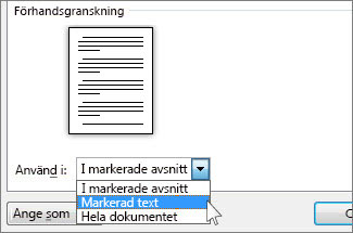 Alternativ för sidorientering