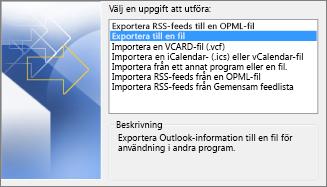 Exportera fil