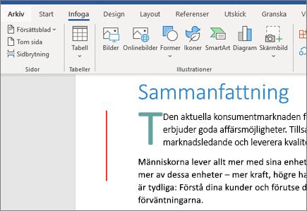 Bilder, SmartArt, diagram i Word i Office 365