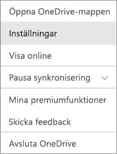 Aktivitetscenter i OneDrive för Mac