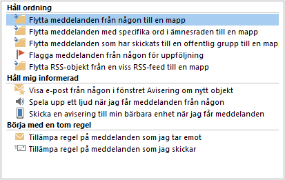Regelguiden i Outlook