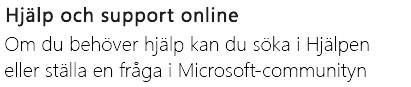 """""""Hjälp och Support online"""" för PowerPoint på en Android-telefon"""