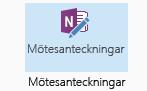 Skärmdump av ikonen Mötesanteckningar i menyfliksområdet för mötesförfrågan